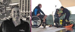 Обучение дайвингу людей с инвалидностью. Инструктор Mark Slingo